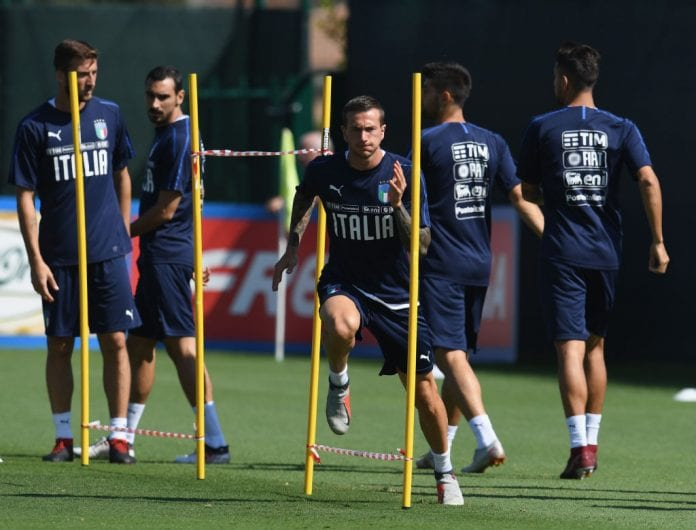 BOLOGNA, ITALY - SEPTEMBER 09: Federico Bernardeschi of Italy in action during a traning session on September 9, 2018 in Bologna, Italy. (Photo by Claudio Villa/Getty Images)