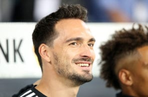 SINSHEIM, GERMANY - SEPTEMBER 09: Mats Hummels of Germany looks on prior to the International Friendly match between Germany and Peru at Rhein-Neckar-Arena on September 9, 2018 in Sinsheim, Germany. (Photo by Adam Pretty/Bongarts/Getty Images)