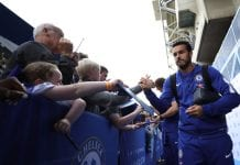 LONDON, ENGLAND - SEPTEMBER 15: Pedro of Chelsea arrives ahead of the Premier League match between Chelsea FC and Cardiff City at Stamford Bridge on September 15, 2018 in London, United Kingdom. (Photo by Dan Istitene/Getty Images)