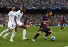 BARCELONA, SPAIN - SEPTEMBER 18: Lionel Messi of Barcelona runs with the ball during the Group B match of the UEFA Champions League between FC Barcelona and PSV at Camp Nou on September 18, 2018 in Barcelona, Spain. (Photo by Alex Caparros/Getty Images)