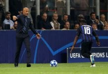 MILAN, ITALY - SEPTEMBER 18: Luciano Spalletti manager of Inter Milan reacts during the Group B match of the UEFA Champions League between FC Internazionale and Tottenham Hotspur at San Siro Stadium on September 18, 2018 in Milan, Italy. (Photo by Dan Istitene/Getty Images)