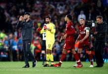 LIVERPOOL, ENGLAND - SEPTEMBER 18: Jurgen Klopp, Manager of Liverpool applauds fans after the Group C match of the UEFA Champions League between Liverpool and Paris Saint-Germain at Anfield on September 18, 2018 in Liverpool, United Kingdom. (Photo by Julian Finney/Getty Images)