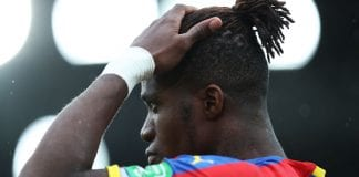 LONDON, ENGLAND - SEPTEMBER 22: Wilfried Zaha of Crystal Palace looks on prior to the Premier League match between Crystal Palace and Newcastle United at Selhurst Park on September 22, 2018 in London, United Kingdom. (Photo by Christopher Lee/Getty Images)