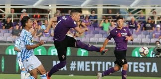 FLORENCE, ITALY - SEPTEMBER 22: Nikola Milenkovic of ACF Fiorentina in action during the Serie A match between ACF Fiorentina and SPAL at Stadio Artemio Franchi on September 22, 2018 in Florence, Italy. (Photo by Gabriele Maltinti/Getty Images)