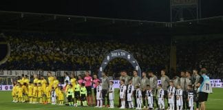 FROSINONE, ITALY - SEPTEMBER 23: A general view of the Serie A match between Frosinone Calcio and Juventus at Stadio Benito Stirpe on September 23, 2018 in Frosinone, Italy. (Photo by Paolo Bruno/Getty Images)