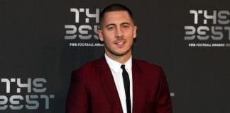 LONDON, ENGLAND - SEPTEMBER 24: Eden Hazard of Chelsea arrives on the Green Carpet ahead of The Best FIFA Football Awards at Royal Festival Hall on September 24, 2018 in London, England. (Photo by Dan Istitene/Getty Images)