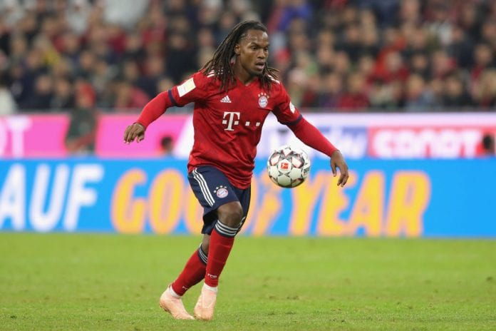 MUNICH, GERMANY - SEPTEMBER 25: Renato Sanches of Bayern Muenchen runs with the ball during the Bundesliga match between FC Bayern Muenchen and FC Augsburg at Allianz Arena on September 25, 2018 in Munich, Germany. (Photo by Alexander Hassenstein/Bongarts/Getty Images)
