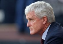 WOLVERHAMPTON, ENGLAND - SEPTEMBER 29: Mark Hughes manager of Southampton during the Premier League match between Wolverhampton Wanderers and Southampton FC at Molineux on September 29, 2018 in Wolverhampton, United Kingdom. (Photo by Lynne Cameron/Getty Images)