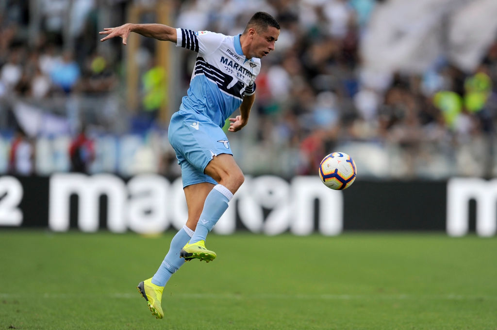 ROME, ITALY - SEPTEMBER 23: Adam Marusic of SS Lazio in action during the Serie A match between SS Lazio and Genoa CFC at Stadio Olimpico on September 23, 2018 in Rome, Italy. (Photo by Marco Rosi/Getty Images)