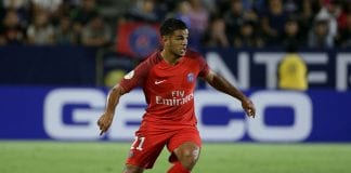 CARSON, CA - JULY 30: Hatem Ben Arfa #21 of Paris Saint-Germain in action against Leicester City during the 2016 International Champions Cup at StubHub Center on July 30, 2016 in Carson, California. (Photo by Jeff Gross/Getty Images)