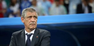 SOCHI, RUSSIA - JUNE 30: Fernando Santos, Head coach of Portugal looks on during the 2018 FIFA World Cup Russia Round of 16 match between Uruguay and Portugal at Fisht Stadium on June 30, 2018 in Sochi, Russia. (Photo by Julian Finney/Getty Images)