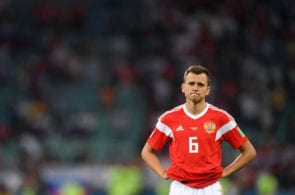 SOCHI, RUSSIA - JULY 07: Denis Cheryshev of Russia shows his dejection following his team's defeat in the 2018 FIFA World Cup Russia Quarter Final match between Russia and Croatia at Fisht Stadium on July 7, 2018 in Sochi, Russia. (Photo by Laurence Griffiths/Getty Images)