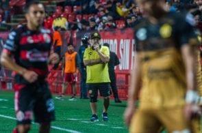 Diego Armando Maradona during the 1-0 victory over Xolos de Tijuana. Photo courtesy Francisco Vega / Xolos de Tijuana.