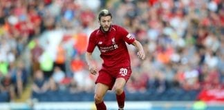 BLACKBURN, ENGLAND - JULY 19: Adam Lallana of Liverpool during the Pre-Season Friendly between Blackburn Rovers and Liverpool at Ewood Park on July 19, 2018 in Blackburn, England. (Photo by Lynne Cameron/Getty Images)
