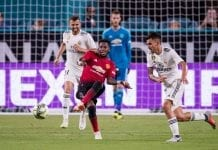 MIAMI, FL - JULY 31: Fred #17 of Manchester United in action during the International Champions Cup match against Real Madrid at Hard Rock Stadium on July 31, 2018 in Miami, Florida. (Photo by Rob Foldy/Getty Images)