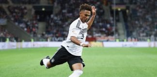 SINSHEIM, GERMANY - SEPTEMBER 09: Thilo Kehrer of Germany controls the ball during the International Friendly match between Germany and Peru at Wirsol Rhein-Neckar-Arena on September 9, 2018 in Sinsheim, Germany. (Photo by Alex Grimm/Bongarts/Getty Images)