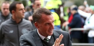 GLASGOW, SCOTLAND - SEPTEMBER 20: Brendan Rodgers, Manager of Celtic arrives at the stadium prior to the UEFA Europa League Group B match between Celtic and Rosenborg at Celtic Park on September 20, 2018 in Glasgow, United Kingdom. (Photo by Ian MacNicol/Getty Images)