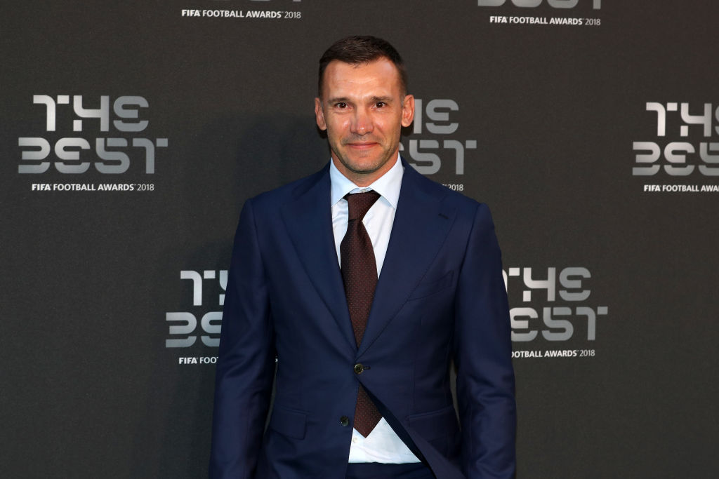 LONDON, ENGLAND - SEPTEMBER 24: Former AC Milan and Ukraine player, Andriy Shevchenko arrives on the Green Carpet ahead of The Best FIFA Football Awards at Royal Festival Hall on September 24, 2018 in London, England. (Photo by Dan Istitene/Getty Images)