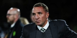GLASGOW, SCOTLAND - SEPTEMBER 20: Celtic manager Brendan Rodgers is seen during the UEFA Europa League Group B match between Celtic and Rosenborg at Celtic Park on September 20, 2018 in Glasgow, United Kingdom. (Photo by Ian MacNicol/Getty Images)