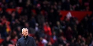 MANCHESTER, ENGLAND - OCTOBER 06: Jose Mourinho, Manager of Manchester United looks on during the Premier League match between Manchester United and Newcastle United at Old Trafford on October 6, 2018 in Manchester, United Kingdom. (Photo by Laurence Griffiths/Getty Images)