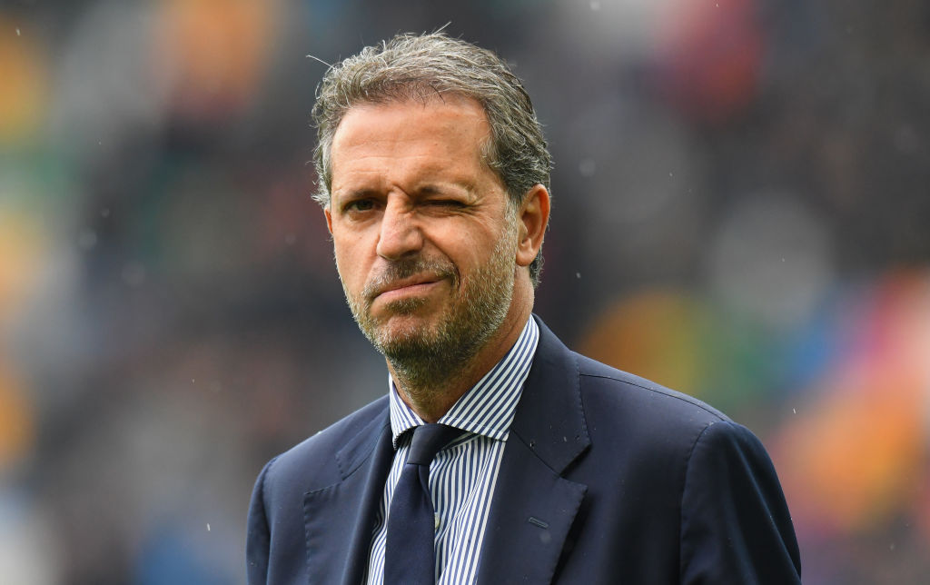 UDINE, ITALY - OCTOBER 06: Fabio Paratici general manager of Juventus looks on before the Serie A match between Udinese and Juventus at Stadio Friuli on October 6, 2018 in Udine, Italy. (Photo by Alessandro Sabattini/Getty Images)