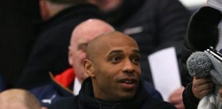 MANCHESTER, ENGLAND - MARCH 18: Thierry Henry watches the FA Youth Cup Semi Final, First Leg match between Manchester City and Arsenal at the City Football Academy on March 18, 2016 in Manchester, England. (Photo by Alex Livesey/Getty Images)