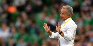DUBLIN, IRELAND - JUNE 02: Dave Sarachan, Manager of The United States reacts during the International Friendly match between the Republic of Ireland and The United States at Aviva Stadium on June 2, 2018 in Dublin, Ireland. (Photo by Dan Mullan/Getty Images)