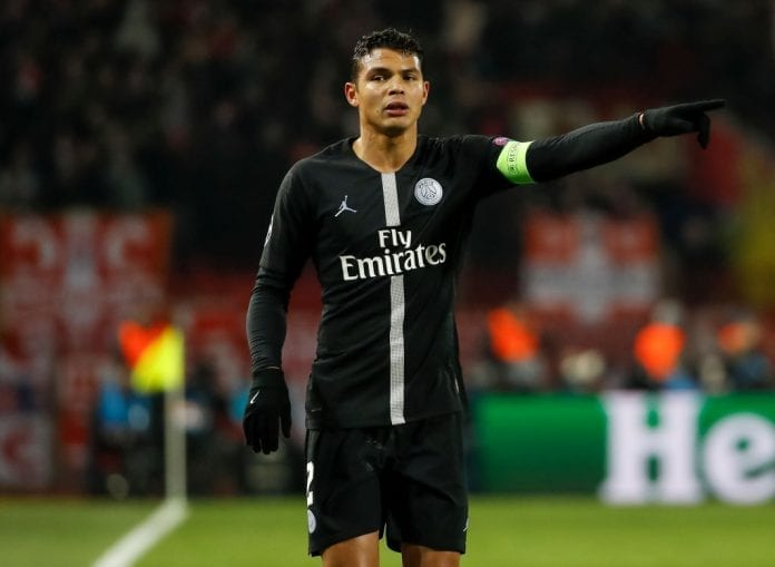 sale retailer 936e9 e3999 Thiago Silva: I was scared PSG wouldn't reach last-16 ...