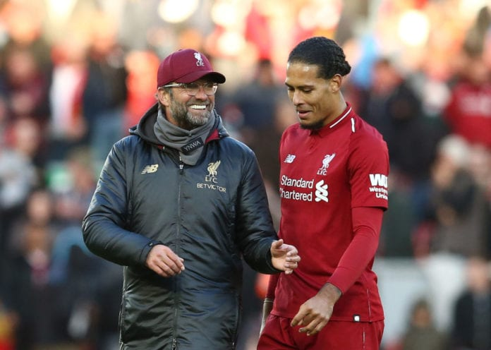 248bb85bc Van Dijk happy to be challenging for trophies with Liverpool ...