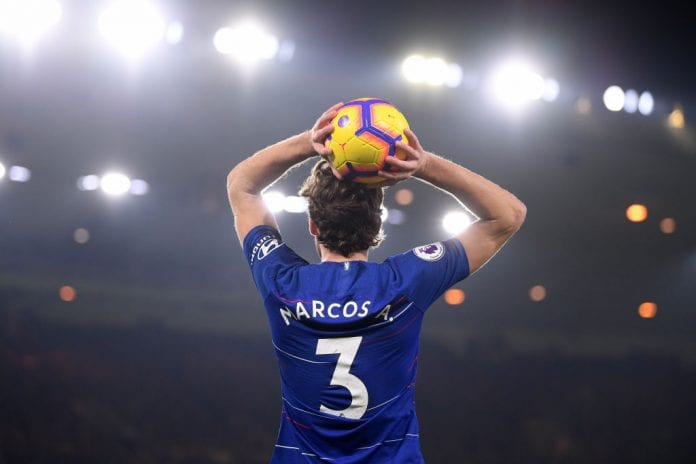 the latest a62d4 5036b Marcos Alonso happy with Chelsea victory