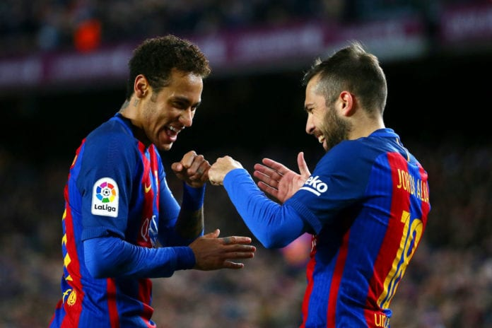 Catalan left-back Jordi Alba spoke to Diario Sport about the possibility of  Neymar going back to FC Barcelona cddd4fabc91