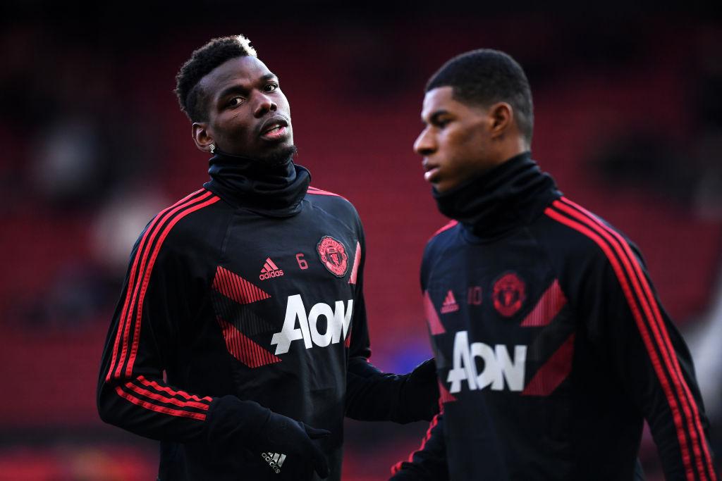 Paul Pogba, Marcus Rashford, Manchester United