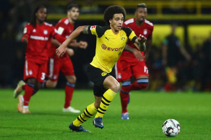 DORTMUND, GERMANY - NOVEMBER 10: Axel Witsel of Dortmund in action during the Bundesliga match between Borussia Dortmund and FC Bayern Muenchen at Signal Iduna Park on November 10, 2018 in Dortmund, Germany. (Photo by Dean Mouhtaropoulos/Bongarts/Getty Images)