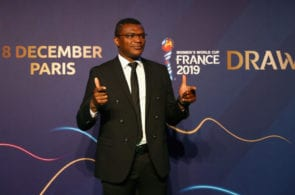 PARIS, FRANCE - DECEMBER 08: Marcel Desailly arrives at the FIFA Women's World Cup France 2019 Draw at La Seine Musicale on December 8, 2018 in Paris, France. (Photo by Dean Mouhtaropoulos/Getty Images)