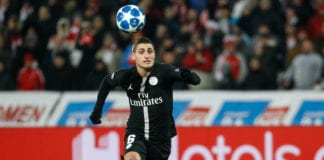 BELGRADE, SERBIA - DECEMBER 11: Marco Verratti of Paris Saint-Germain in action during the UEFA Champions League Group C match between Red Star Belgrade and Paris Saint-Germain at Rajko Mitic Stadium on December 11, 2018 in Belgrade, Serbia. (Photo by Srdjan Stevanovic/Getty Images)