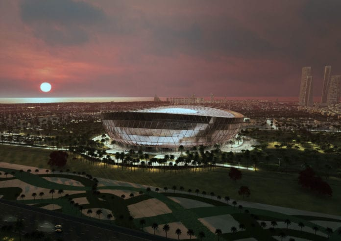 LUSAIL, QATAR - UNDATED: In this handout rendered image released by the 2022 Supreme Committee for Delivery and Legacy, Qatar 2022 FIFA World Cup: tournament organisers unveil design for 85,000 seater Lusail Stadium, venue to host opening and final games in 2022 on December 15, 2018 (Photo by 2022 Supreme Committee for the Delivery & Legacy for the FIFA World Cup Event via Getty Images)