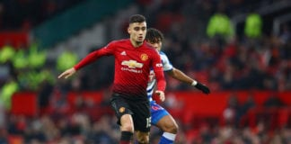 MANCHESTER, ENGLAND - JANUARY 05: Andreas Pereira of Manchester United in action during the FA Cup Third Round match between Manchester United and Reading at Old Trafford on January 5, 2019 in Manchester, United Kingdom. (Photo by Clive Brunskill/Getty Images)