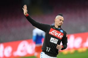 NAPLES, ITALY - DECEMBER 22: Marek Hamsik of SSC Napoli in action during the Serie A match between SSC Napoli and Spal at Stadio San Paolo on December 22, 2018 in Naples, Italy. (Photo by Francesco Pecoraro/Getty Images)