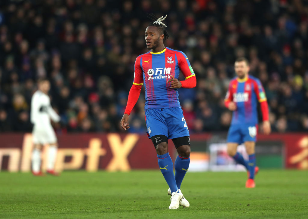 LONDON, ENGLAND - FEBRUARY 02: Michy Batshuayi of Crystal Palace looks on during the Premier League match between Crystal Palace and Fulham FC at Selhurst Park on February 2, 2019 in London, United Kingdom. (Photo by Christopher Lee/Getty Images)