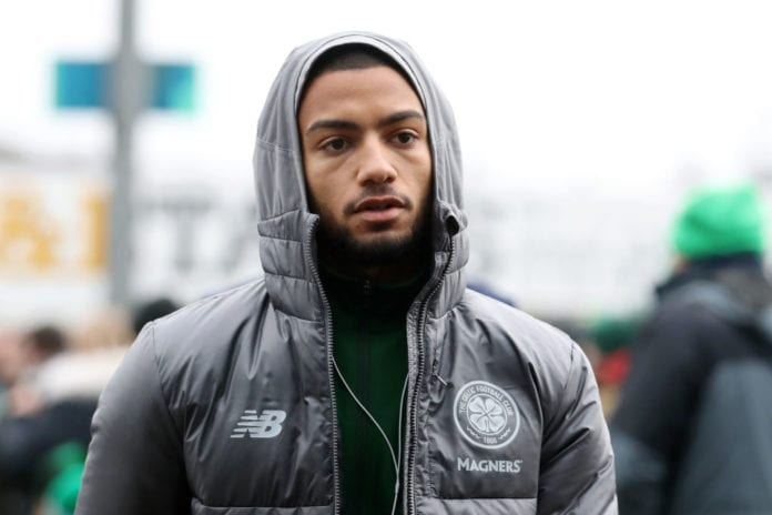 PERTH, SCOTLAND - FEBRUARY 03: Jeremy Toljan of Celtic arrives at the stadium prior to the Ladbrokes Premiership match between St Johnstone and Celtic at McDiarmid Park on February 3, 2019 in Perth, United Kingdom. (Photo by Ian MacNicol/Getty Images)