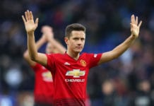 LEICESTER, ENGLAND - FEBRUARY 03: Ander Herrera of Manchester United celebrates victory following the Premier League match between Leicester City and Manchester United at The King Power Stadium on February 3, 2019 in Leicester, United Kingdom. (Photo by Catherine Ivill/Getty Images)