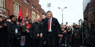 LONDON, ENGLAND - FEBRUARY 09: Ole Gunnar Solskjaer, Interim Manager of Manchester United arrives at the stadium prior to the Premier League match between Fulham FC and Manchester United at Craven Cottage on February 9, 2019 in London, United Kingdom. (Photo by Catherine Ivill/Getty Images)
