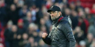 LIVERPOOL, ENGLAND - FEBRUARY 09: Jurgen Klopp, Manager of Liverpool reacts following the Premier League match between Liverpool FC and AFC Bournemouth at Anfield on February 9, 2019 in Liverpool, United Kingdom. (Photo by Alex Livesey/Getty Images)