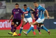 FLORENCE, ITALY - FEBRUARY 09: Luis Muriel of ACF Fiorentina in action during the Serie A match between ACF Fiorentina and SSC Napoli at Stadio Artemio Franchi on February 9, 2019 in Florence, Italy. (Photo by Gabriele Maltinti/Getty Images)