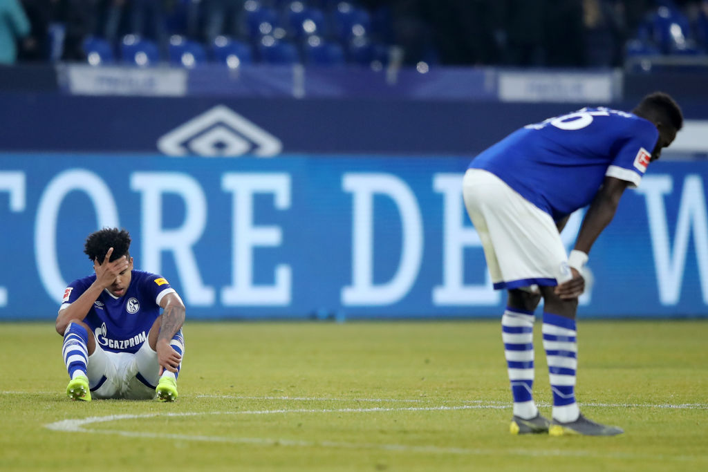 GELSENKIRCHEN, GERMANY - FEBRUARY 16: Weston McKennie of FC Schalke 04 recats after the Bundesliga match between FC Schalke 04 and Sport-Club Freiburg at Veltins-Arena on February 16, 2019 in Gelsenkirchen, Germany. (Photo by Christof Koepsel/Bongarts/Getty Images)