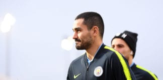 NEWPORT, WALES - FEBRUARY 16: Ilkay Gundogan of Manchester City arrives at the stadium prior to the FA Cup Fifth Round match between Newport County AFC and Manchester City at Rodney Parade on February 16, 2019 in Newport, United Kingdom. (Photo by Harry Trump/Getty Images)