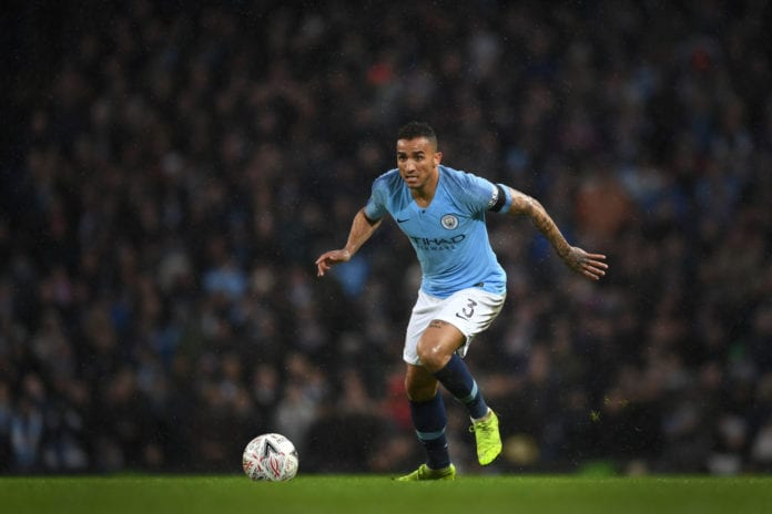MANCHESTER, ENGLAND - JANUARY 26: Danilo of Manchester City in action during the FA Cup Fourth Round match between Manchester City and Burnley at Etihad Stadium on January 26, 2019 in Manchester, United Kingdom. (Photo by Michael Regan/Getty Images)