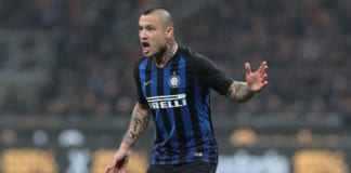 MILAN, ITALY - FEBRUARY 17: Radja Nainggolan of FC Internazionale shouts during the Serie A match between FC Internazionale and UC Sampdoria at Stadio Giuseppe Meazza on February 17, 2019 in Milan, Italy. (Photo by Emilio Andreoli/Getty Images)