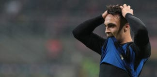 MILAN, ITALY - FEBRUARY 17: Lautaro Martinez of FC Internazionale reacts after missing a chance of a goal during the Serie A match between FC Internazionale and UC Sampdoria at Stadio Giuseppe Meazza on February 17, 2019 in Milan, Italy. (Photo by Emilio Andreoli/Getty Images)