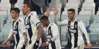 TURIN, ITALY - FEBRUARY 02: Cristiano Ronaldo of Juventus celebrates after scoring the opening goal during the Serie A match between Juventus and Parma Calcio at Allianz Stadium on February 02, 2019 in Turin, Italy. (Photo by Tullio M. Puglia/Getty Images)